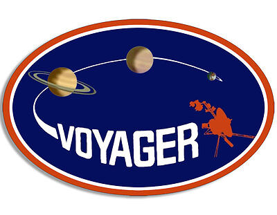 4X4 Inch Oval Voyager Logo Sticker  Space Astronomy Science Nasa Insignia Planet