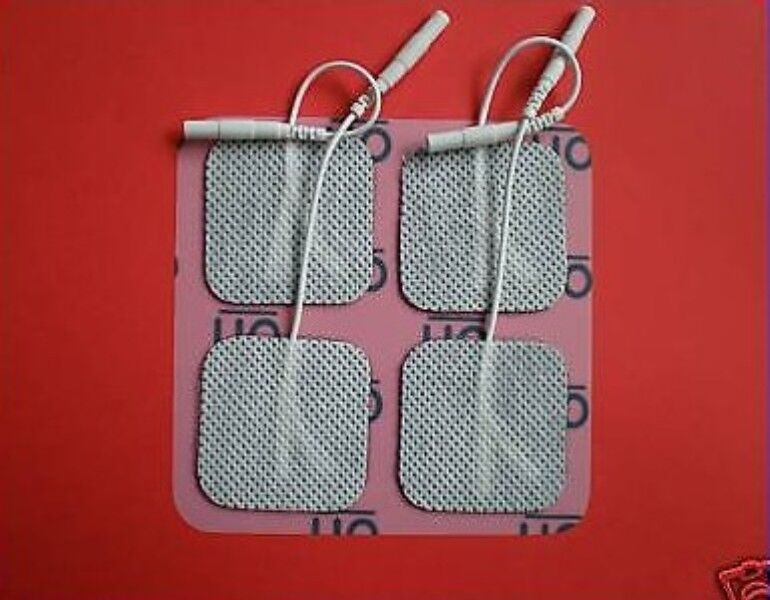 20 TENS Elektroden Klebe Pads 40x40mm EMS Reizstrom Gerät Beste Qualität 4x4cm