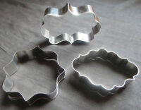 House/Crown/Bear/Plaque Frame Cookie Cutters - New