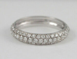 14k White Gold eternity diamond ring(1.05ct tdw, 1.9gr) #1928
