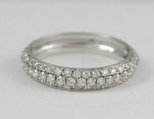 14k White Gold Diamond Eternity Band (1.05 tdw) #1928