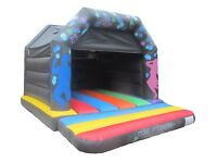 ** Disco themed bouncy castle hire with built in Bluetooth speaker **