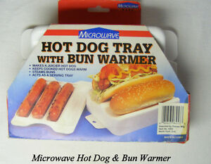 MICROWAVE HOT DOG TRAY /BUN WARMER,