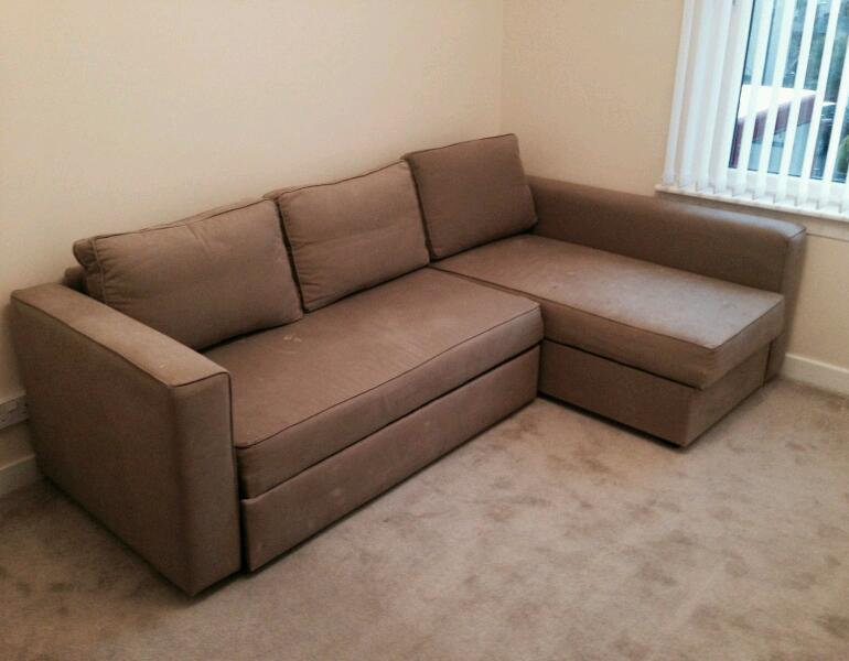 Ikea Corner Sofa Bed Double Bed Storage L Shape In Knightswood