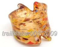 Murano Lampwork Glass Ring size #7 Band--NEW!!