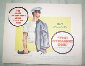 ORIGINAL THE STRANGE ONE 1957 TC GAY CLASSIC GAZZARA
