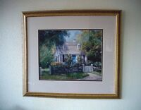 Framed Double Matted Cottage Print by Dorothy J. Ramsey