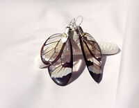 Transparent Greta oto Butterfly Wing - Silver Plated
