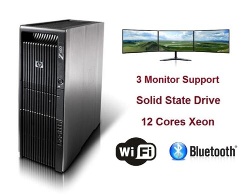Hp Z600 Workstation Gaming Computer Pc 12 Xeon Cores Cpu 256gb Ssd Gtx1060 Video