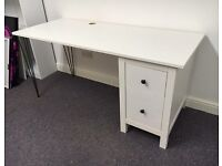 Stylish White IKEA Hemnes Desk with Hairpin Legs!