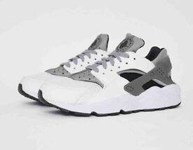 Nike air huarache wolf white grey black uk 8.5