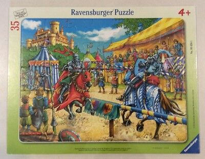 Ravensburger Exciting Jousting Frame Tray Jigsaw Puzzle (35 Piece) New 35 Piece Framed Puzzle