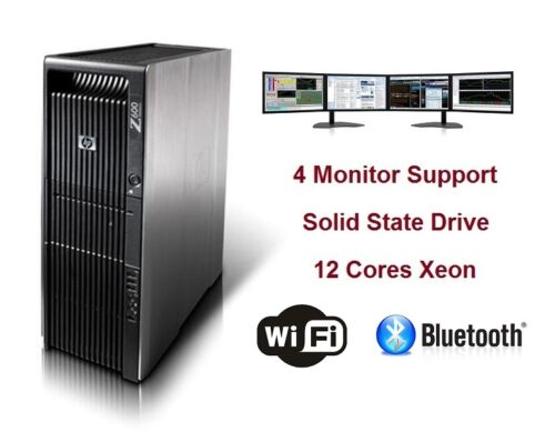 Fast Hp Z600 Workstation Trading Computer Pc 12 Xeon Cores Cpu 256gb Ssd Graphic