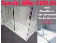 Walk in shower Wetroom shower tray packages