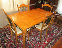 Solid Wood Dining Table + 4 Chairs *price drop*