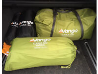 Vango Icarus 500 5 birth tent, awning footprint and carpet
