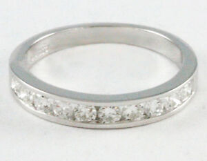14k White Gold diamond band (10 dia,0.50ct tdw, 2.4gr) #1530