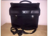Samsonite black locking laptop bag / briefcase with strap