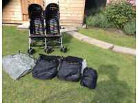 Mothercare Xoob2 Double Buggy Pushchair Stroller (+ Accessories) Great Condition