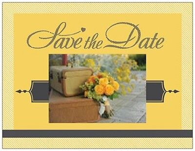 20 Destination WEDDING Save the DATE LUGGAGE & BOUQUET Post CARDS  USA - Save The Date Destination Wedding