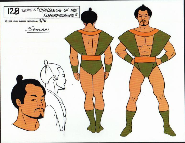 CHALLENGE Of The SUPER FRIENDS : SAMURAI MODEL SHEET DC ALEX TOTH