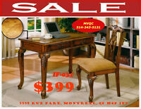 make up desks, vanities, benches, stools, curio, hutches, mvqc