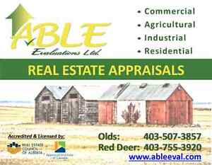 ABLE EVALUATIONS ~ RED DEER, OLDS & AREA REAL ESTATE APPRAISERS