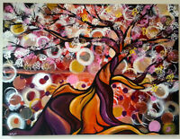 Muticoloured Blossoming Tree Painting