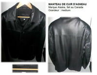 MANTEAU DE CUIR-T MEDIUM