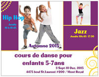 Dance Classes for Kids ages 5-7  Hip Hop and Jazz September 2015