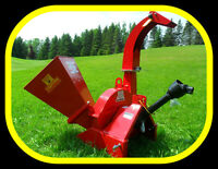 "4"" x 10"" capacity PTO WOOD CHIPPER, for 16-60hp, 2 year warranty"
