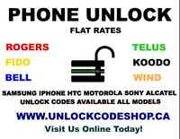 UNLOCK CODES FOR SAMSUNG,LG,BLACKBERRY,IPHONE & MANY MORE