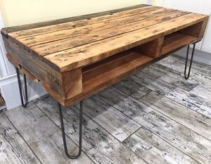 Recycled/Reclaimed Wood & Vintage Style Hairpin Leg Coffee Table