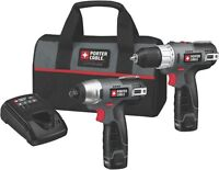 PORTER-CABLE PCL212IDC-2 12-Volt Max Compact Lithium-Ion 2-Tool