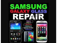 SAMSUNG Smart phone top glass and full screen repair Galaxy2,3,4,5 and note 1,2,3,4