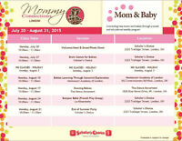 Mom To Be and Mom and Baby Classes - Starting July 20
