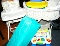 LOT: Used Baby items♥Highchair♥Playpen♥BoosterChair♥Saucer♥