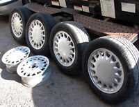 SAAB 900 TURBO WHEELS + NOKIAN TIRES Excellent condition. 4 bolt