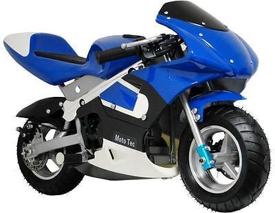 Mototec Gas Pocket Bike  Dirt Bike   Blue