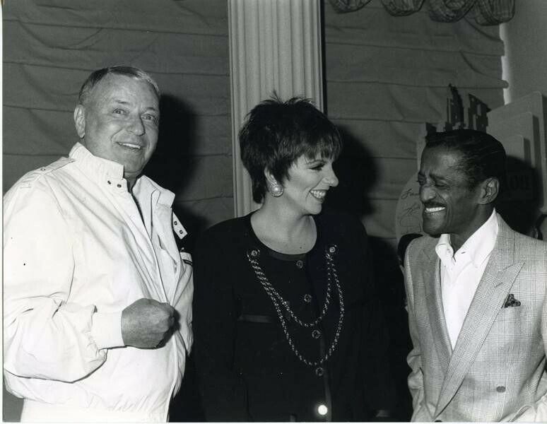 Frank Sinatra Sammy Davis Jr Liza Minnelli Beverly Hills Hotel 1988 Photograph