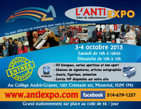 L'Anti-Expo 4e édition, cartes de hockey,baseball,figurines etc.
