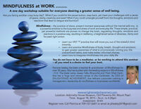 MINDFULNESS AT WORK - a one day workshop