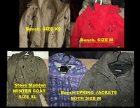 Bench. Spring & Winter Jackets AND Steve Madden Winter Jacket!