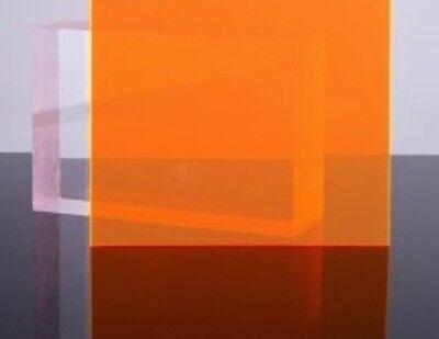 Orangeamber Fluorescent Acrylic Plexiglass Sheet 18 X 6 X 12 9096