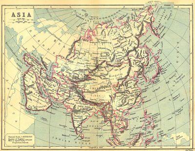 ASIA. Continent. LONGMANS 1897 old antique vintage map plan chart