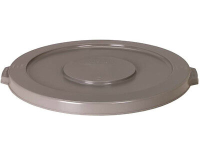(Continental 2001GY Huskee Round Flat Receptacle 20-Gallon Container Lid, Gray)