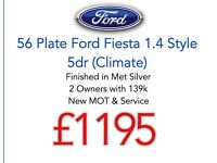 Arriving Wednesday - 56 Ford Fiesta 1.4 Style 5dr (climate) - New MOT & Service