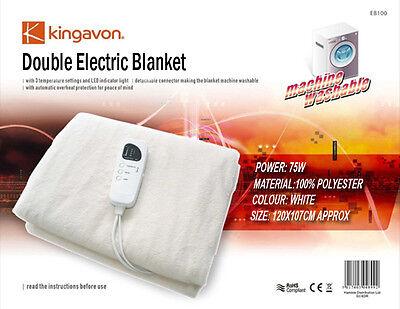 NEW DOUBLE SIZE ELECTRIC HEATED UNDER BLANKET MACHINE WASHAB