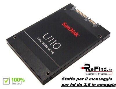 HARD DISK SSD 64GB SANDISK U110 HD 2,5 CON STAFFE PER MONTAGGIO 3,5 IN OMAGGIO