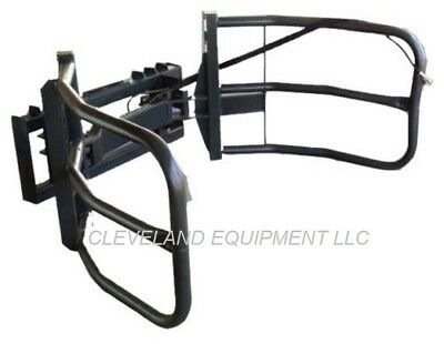 New Bale Grabber Grapple Hay Squeeze Attachment Kubota Cat Skid Steer Loader